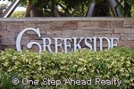 sign for Creekside