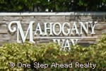 sign for Mahogany Way
