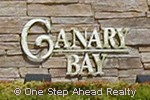 sign for Canary Bay