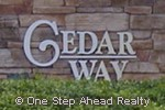 sign for Cedar Way