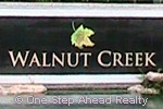 Walnut Creek community sign